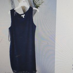 Charter Club sleeveless dress Navy color